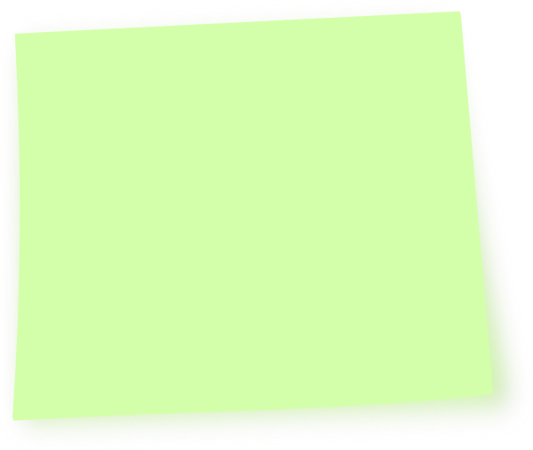 Green post it note png. Clip art at clker