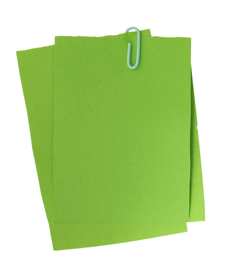 Green post it note png. Paper clip sticker notes