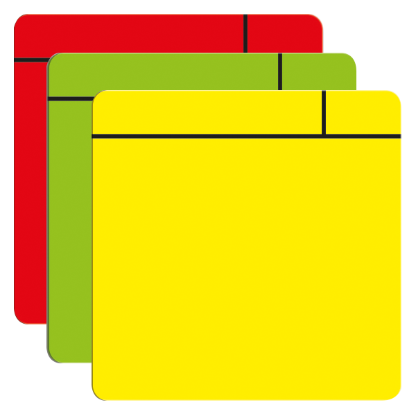 Green post it note png. Flexible vinyl magnetic notes