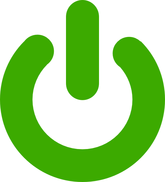 Green power button png. Icon clip art at