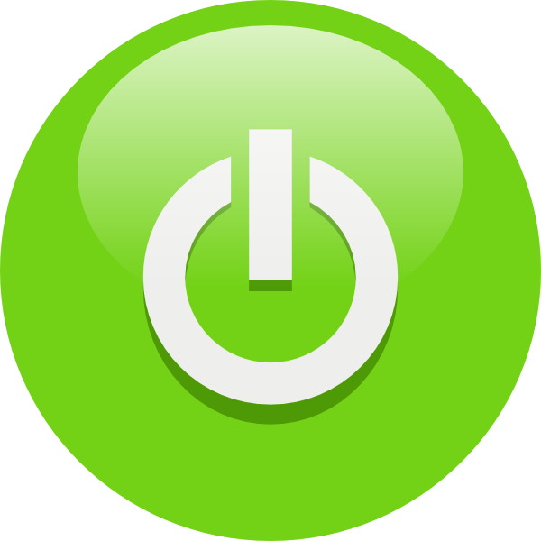 Green power button png. Image the amazing world