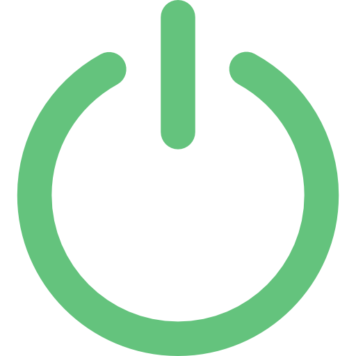 Green power button png. Free multimedia icons icon