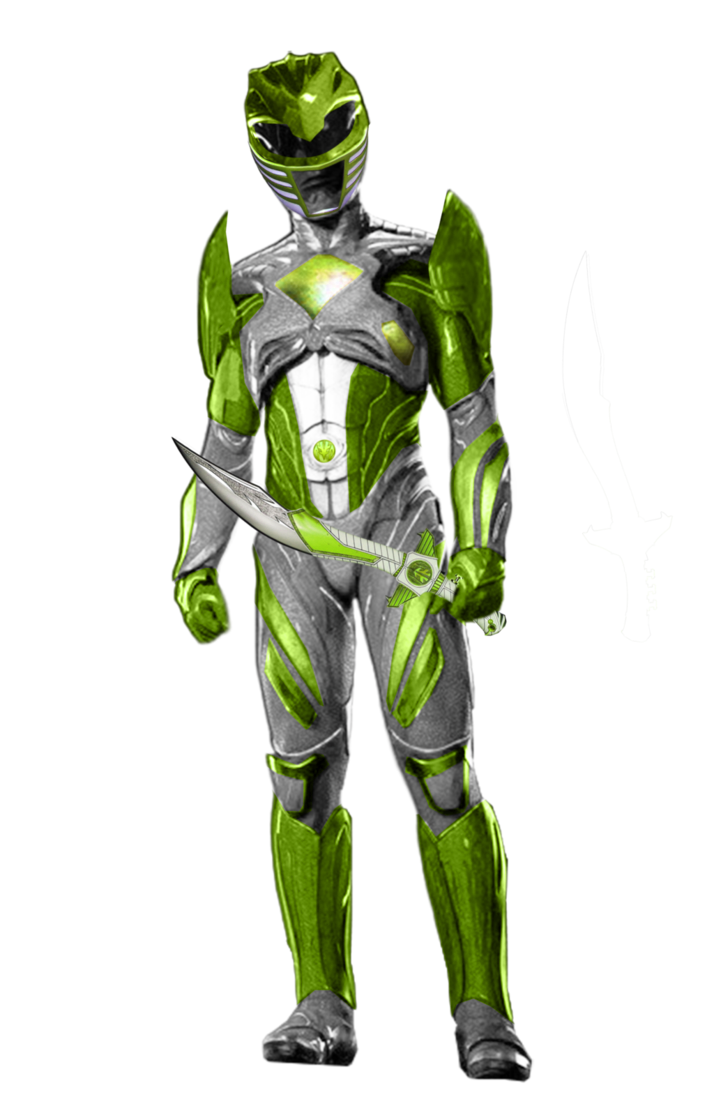 Green power ranger png. Rangers movie made by