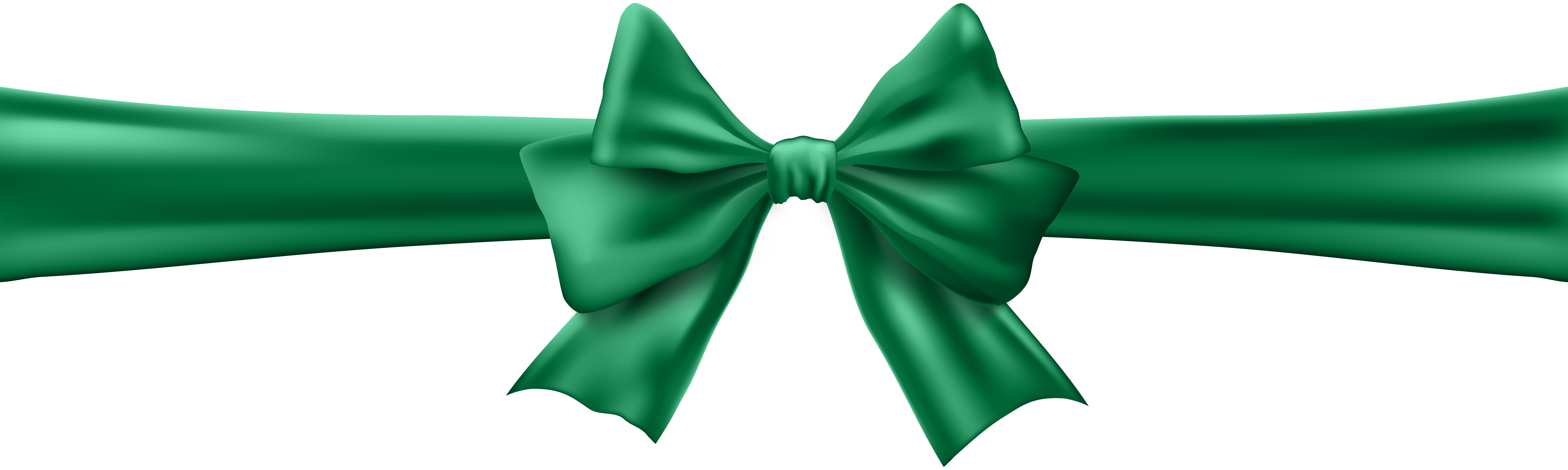 Green ribbon bow png. With clip art image
