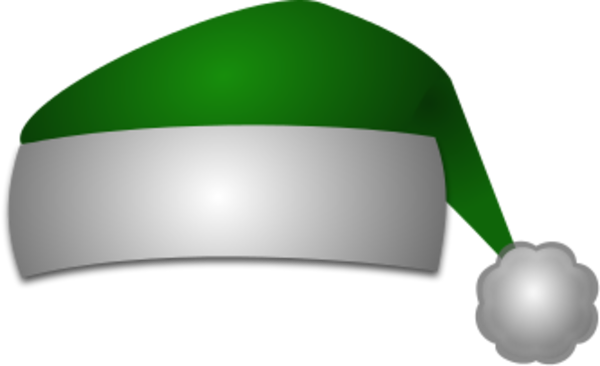 Green santa hat png. Collection of clipart