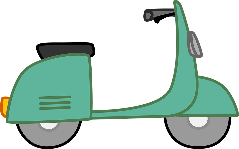 Green scooter. Free image on pixabay