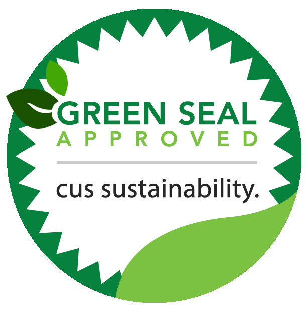 Green seal png. Cus sustainability why apply