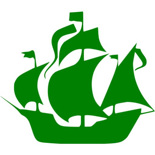 Green ship. Boat icon free icons