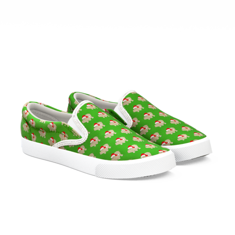Green shoe left print png. Santa hippos bucketfeet about