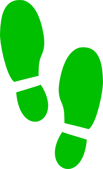 green shoe left print png