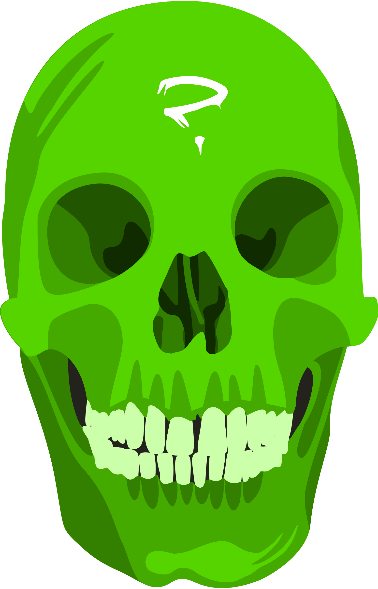 Green skull png. Icons free and downloads