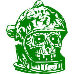 Green skull png. Icon free icons