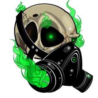 Green skull png. Lime smoked emblems for