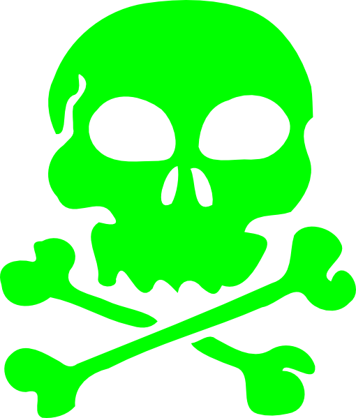 Green skulls png. Skull clip art at