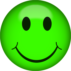 Green smiley face png. Clipart
