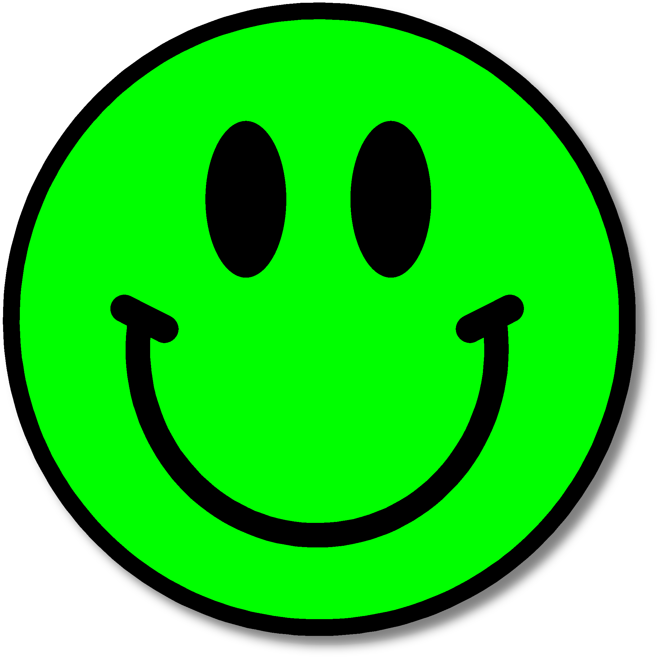 Green smiley face png. This is for the