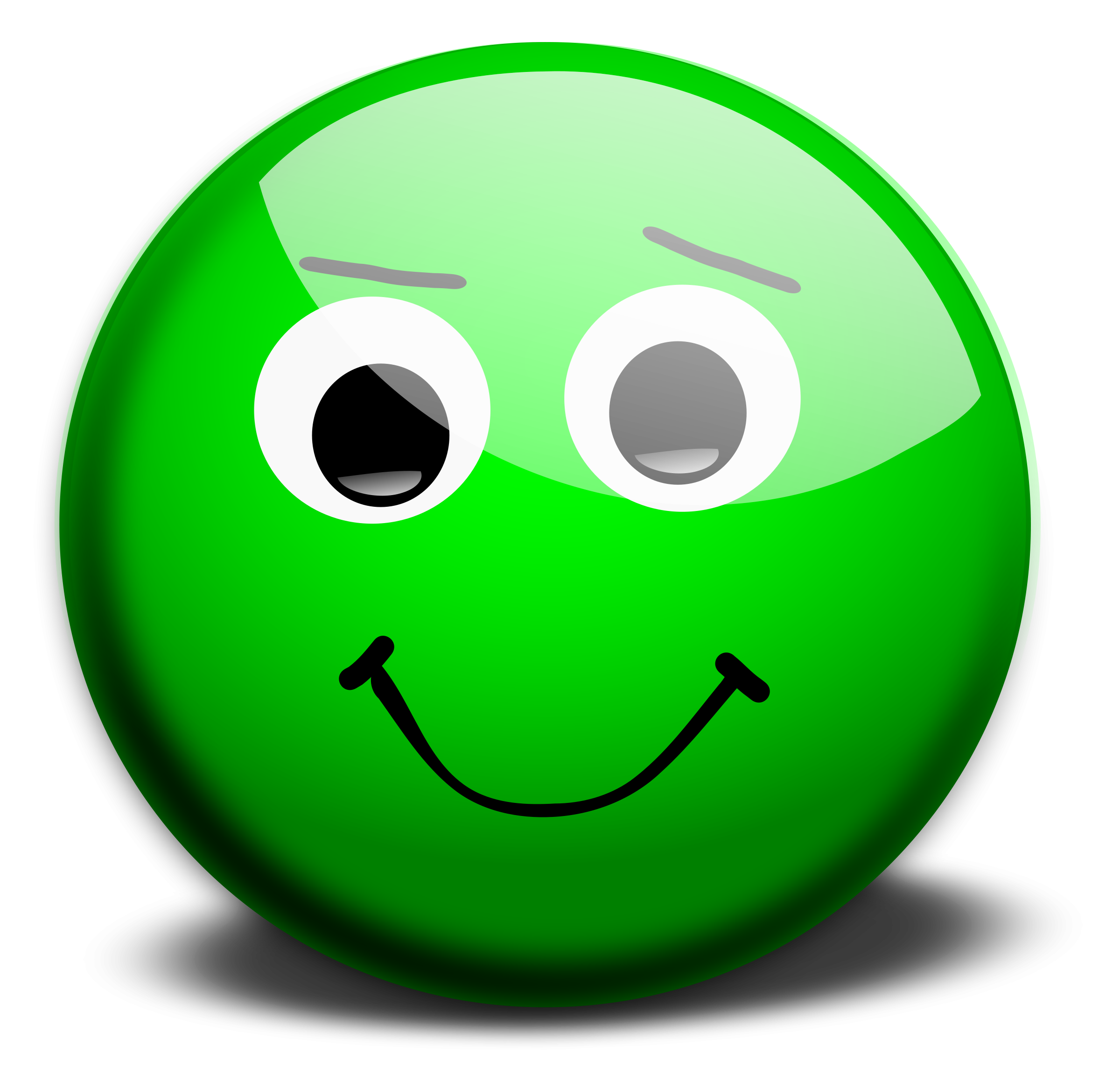 Green smiley face png. Clipart panda free images