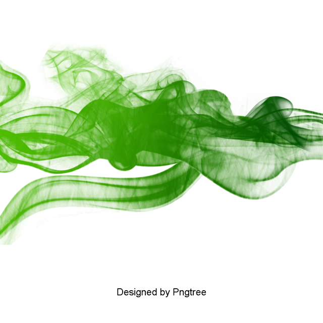 Smoke green png. Clouds and psd file