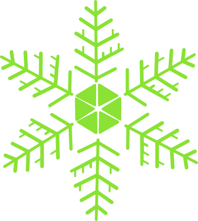 Snowflakes clipart green. Clip art library colorful