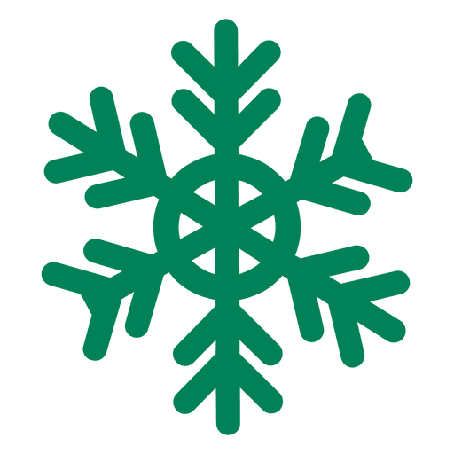 Green snowflake png. Flat icon transparent svg