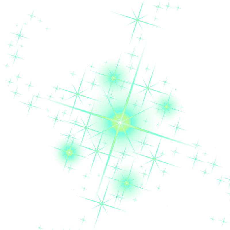 Glowing transparent sparkles. Png cliparts shining decorations
