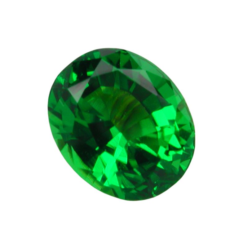Transparent mineral green colored. Diamond emerald png image