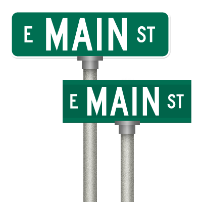 Green street sign png. Signs property name