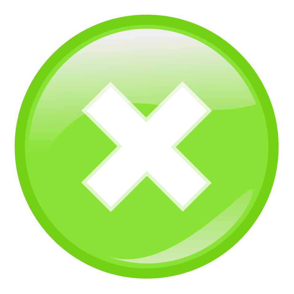 Green x png. Close button transparent pictures