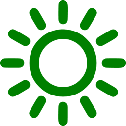 Green sun png. Icon free weather icons