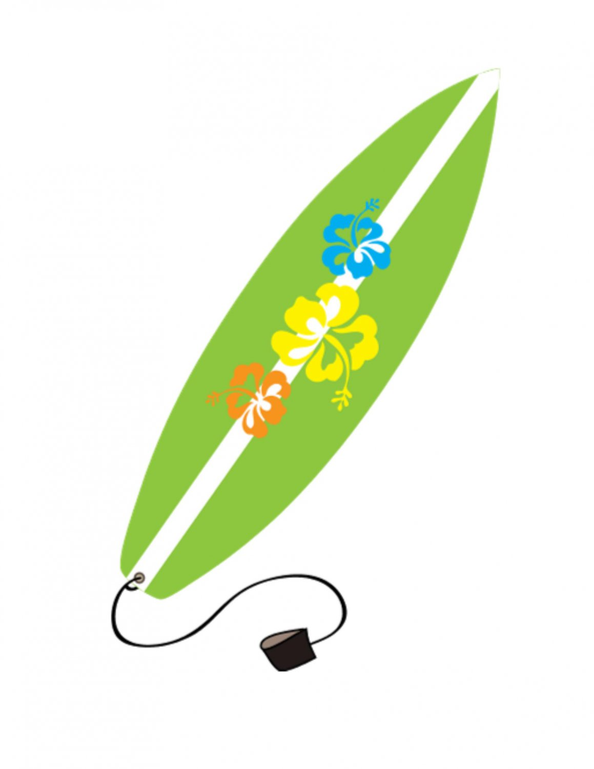 Green surfboard. Free cliparts download clip