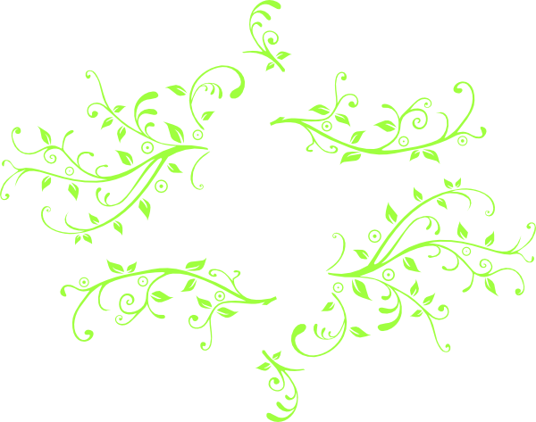 Green swirls png. Swirl cute flower leaf