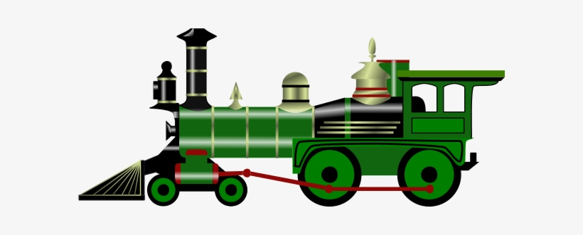 Green train. This free clipart png