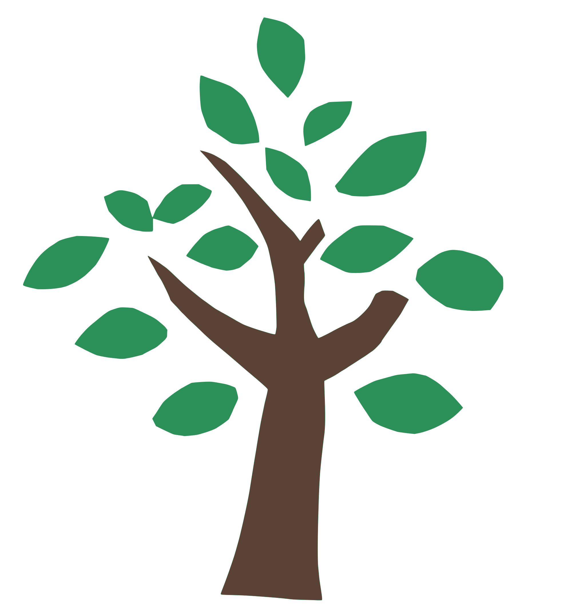 green tree icon png