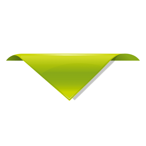 Vector triangles leaf. Green triangle label mark