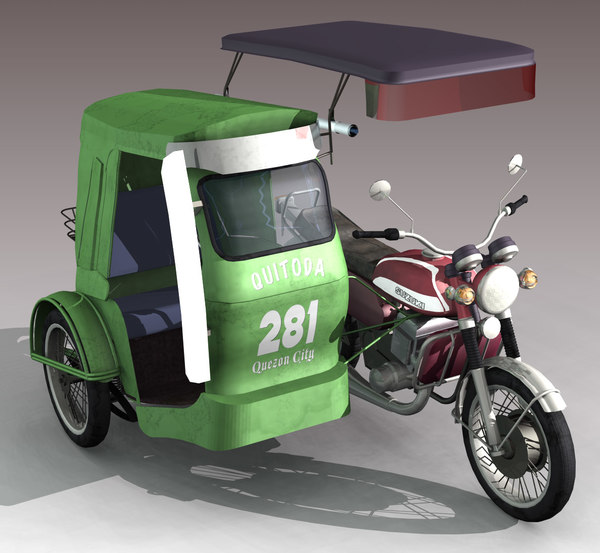 Green tricycle. Philippine clipart station
