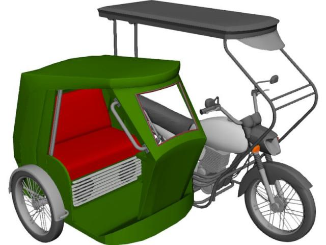 Green tricycle. Free clipart download clip