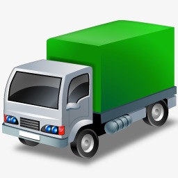 Green truck. Clipart png images