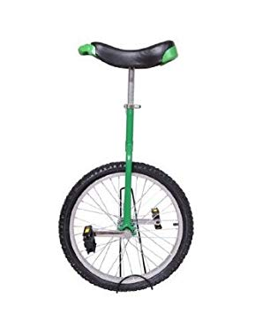 Green unicycle. Aosom deluxe wheel frame