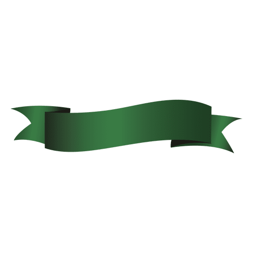 Wave clip ribbon. Green transparent png svg