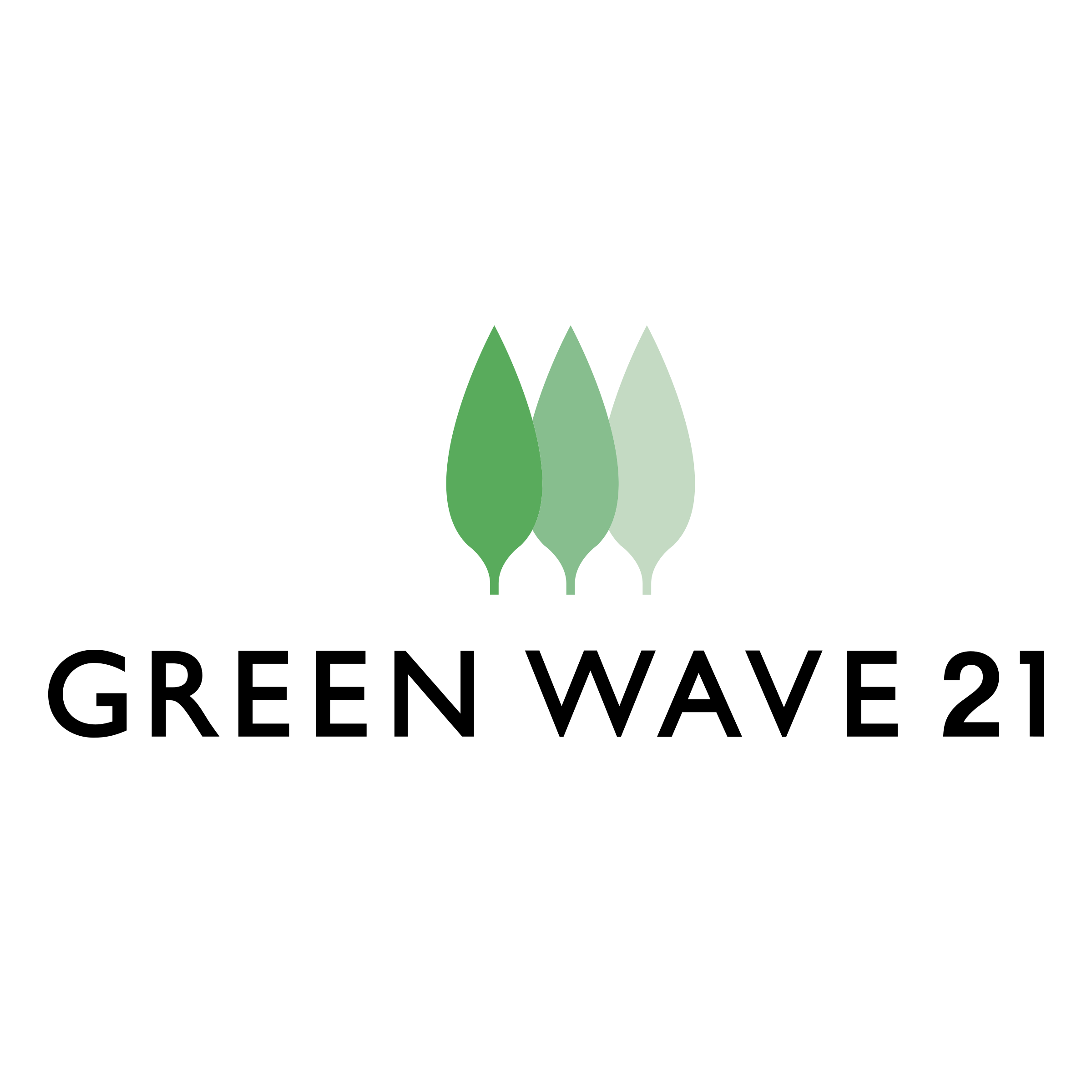 Green wave vector png. Logo transparent svg freebie