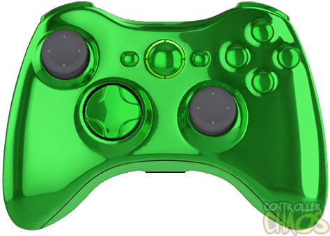 Green xbox controller png. Chrome edition modded controllers
