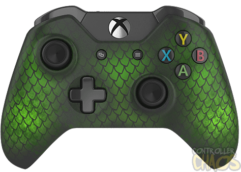 Green xbox controller png. Forest dragon one custom