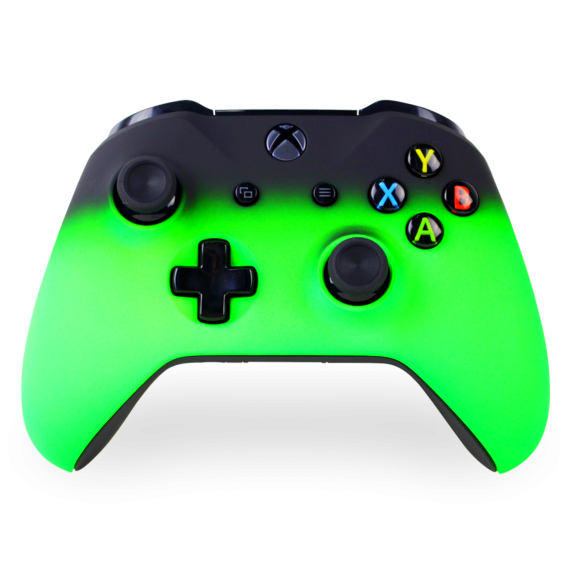 Green xbox controller png. Two tone one modz