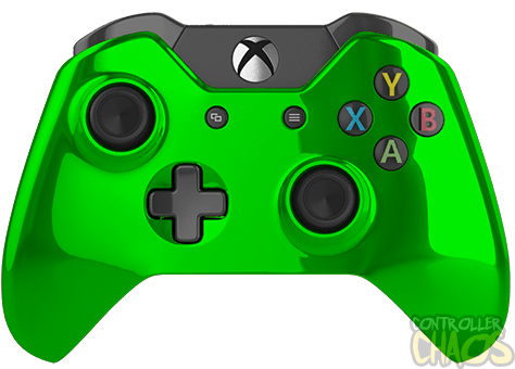 Green xbox controller png. Chrome one modded chaos