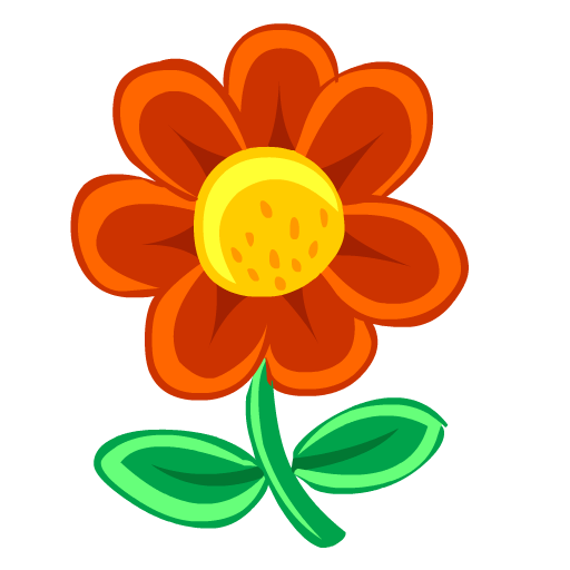 Free small flower icon. Greenery vector image free