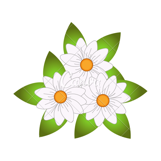 Typography vector flower. Free small icon download