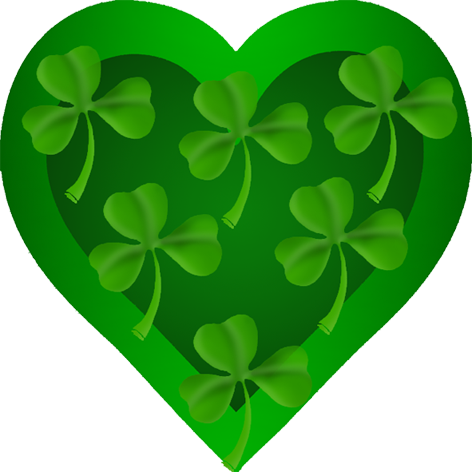 Greenery vector heart. St patrick s with