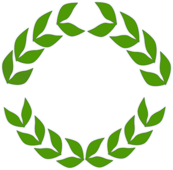 Greenery vector laurel. Olive wreath drawing at