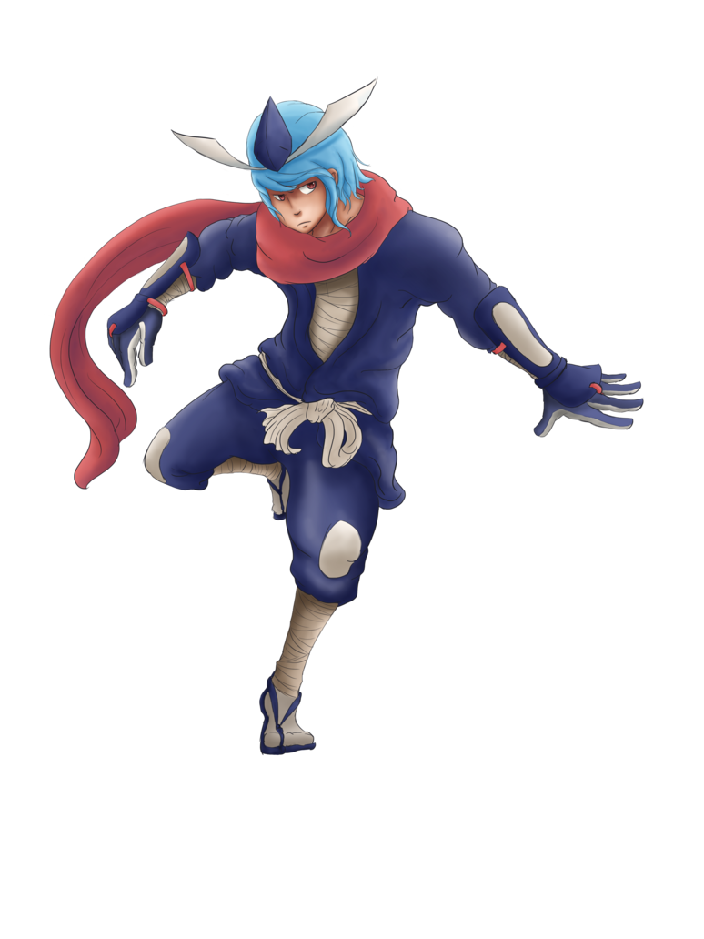 Greninja transparent. Gijinka by muzukashiko on