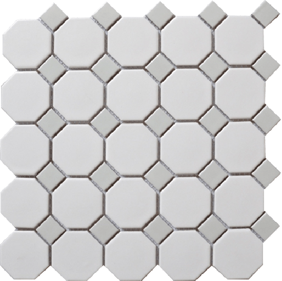 Octagon pattern png. Snow white with grey